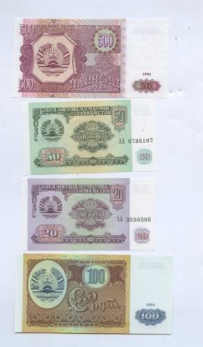 Набор банкнот 1994 года (Таджикистан)