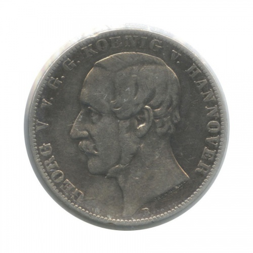 1 талер - Георг V (Ганновер), в холдере 1860 года