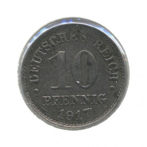 10 пфеннигов (в холдере) 1917 года А (Германия)