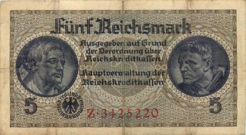 5 рейхсмарок 1939-1944 (Германия (Третий рейх))