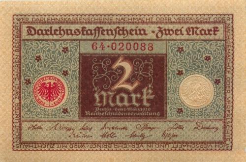 2 марки 1920 года (Германия)