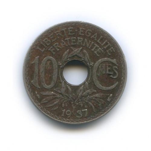 10 сантимов 1937 года (Франция)