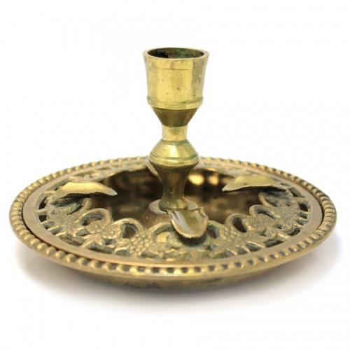 Пепельница-подсвечник (латунь, диаметр 13,5 см, высота 8 см)