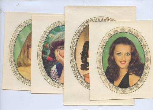 Набор переводных картинок «Женский портрет» (Германия (ГДР))