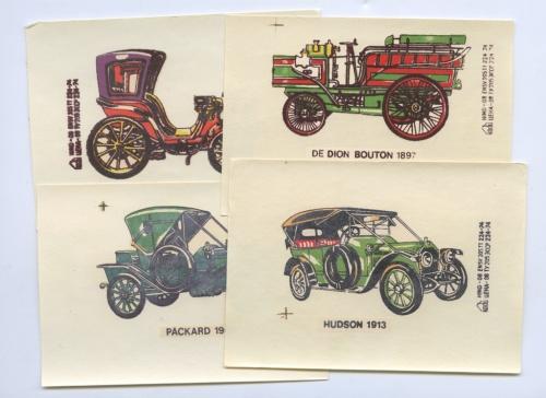Набор переводных картинок «Автомобили» (Германия (ГДР))