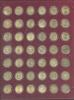 Набор юбилейных монет 10 рублей (вкапсулах, вкассете «Leuchtturm») (Россия)