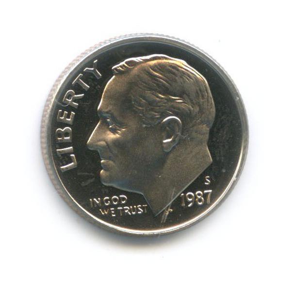 10 центов (дайм) 1987 года S (США)