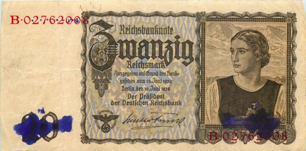 20 рейхсмарок 1939 года (Германия (Третий рейх))