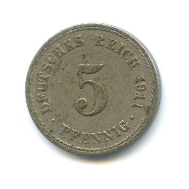 5 пфеннигов 1911 года А (Германия)