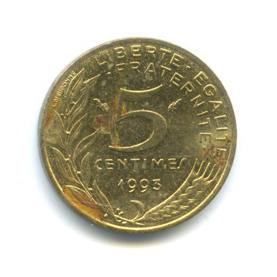 5 сантимов 1993 года (Франция)