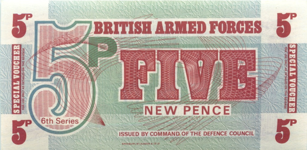5 новых пенсов (ваучер) - Вооруженные силы Великобритании (Великобритания)