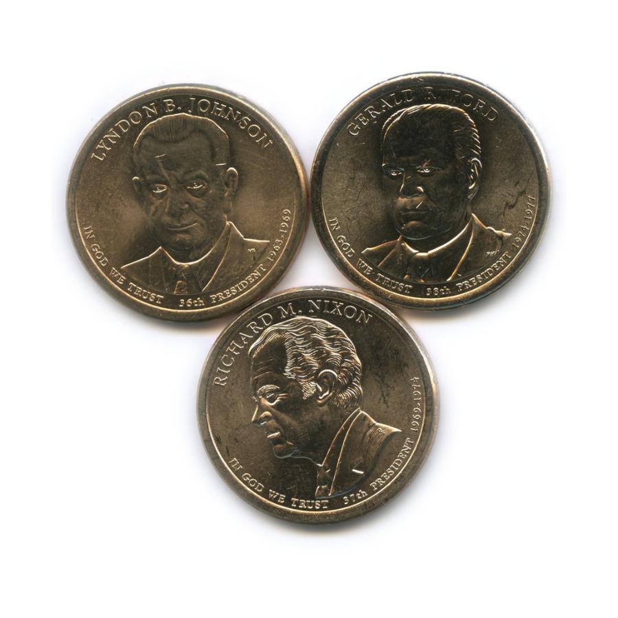 Набор монет 1 доллар - Президенты США 2015, 2016 P, D (США)