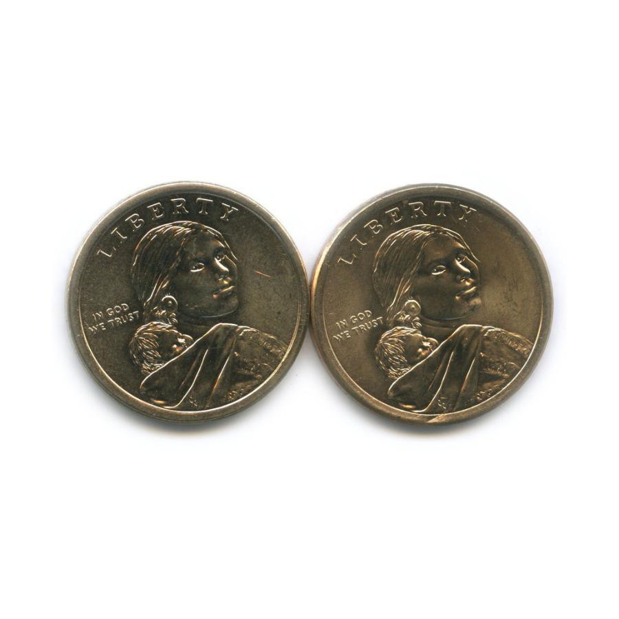 Набор монет 1 доллар - Коренные американцы 2015, 2016 (США)