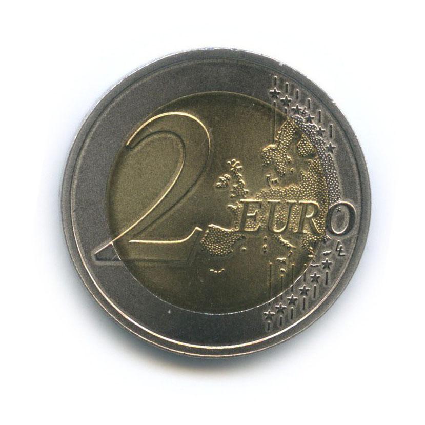 2 евро - Природа вопасности - Черный аист 2015 года (Латвия)