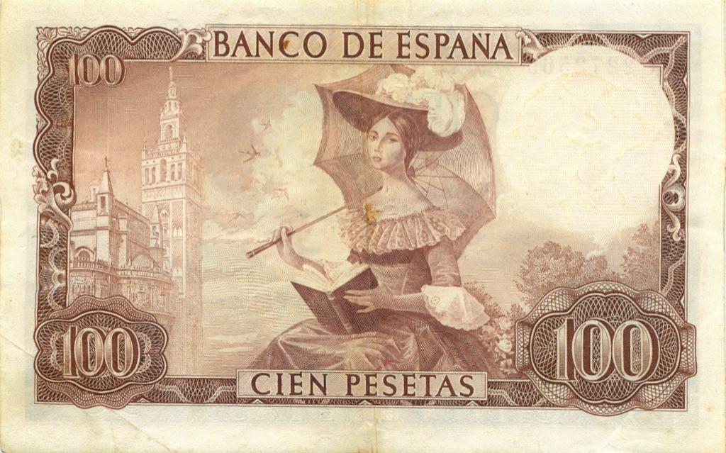 100 песет 1965 года (Испания)
