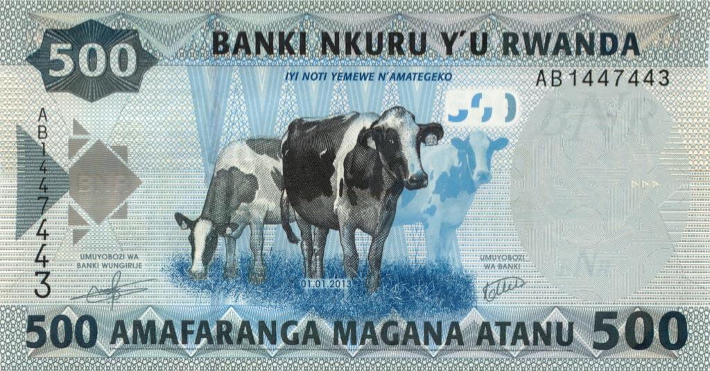 500 франков (Руанда) 2013 года