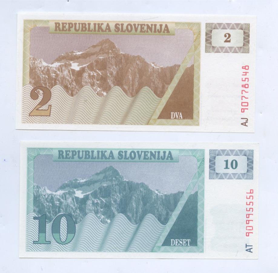 Набор банкнот (Словения)