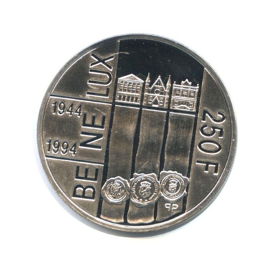 250 франков - 50-летие подписания Таможенной конвенции Бенилюкса 1994 года (Люксембург)