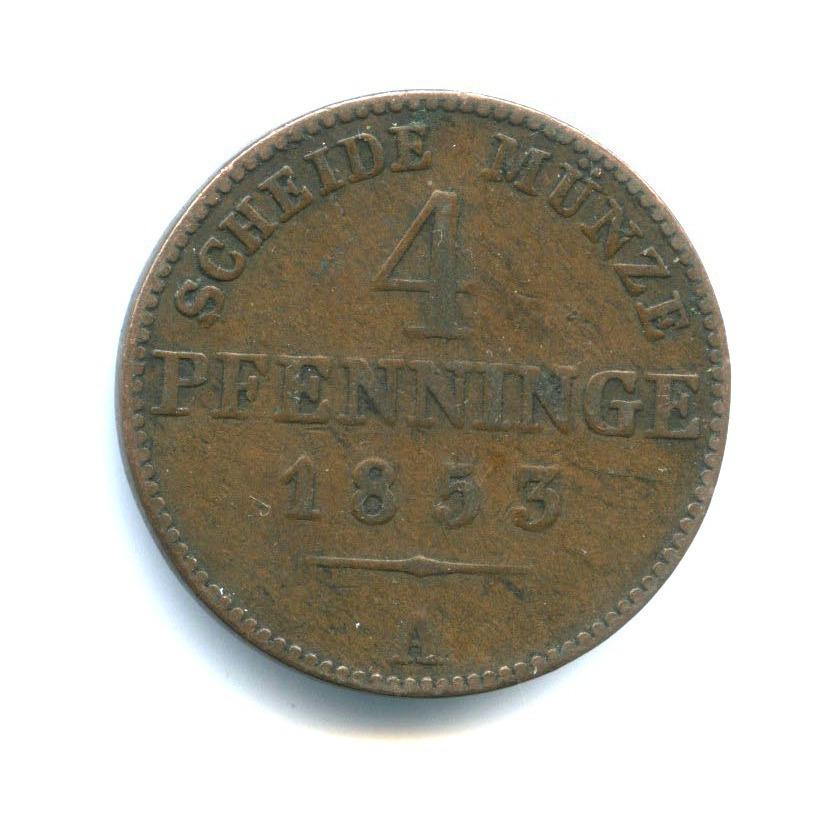 4 пфеннига, Пруссия 1853 года