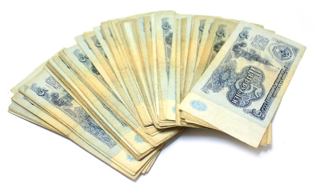 Набор банкнот 5 рублей (100 шт.) 1961 года (СССР)