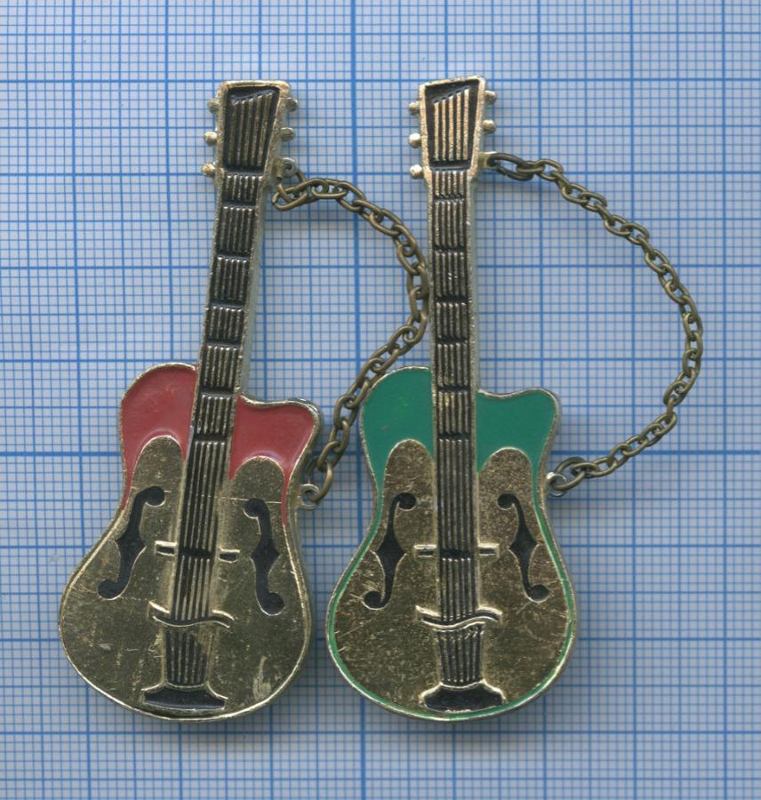 Набор брошек «Гитара» (СССР)