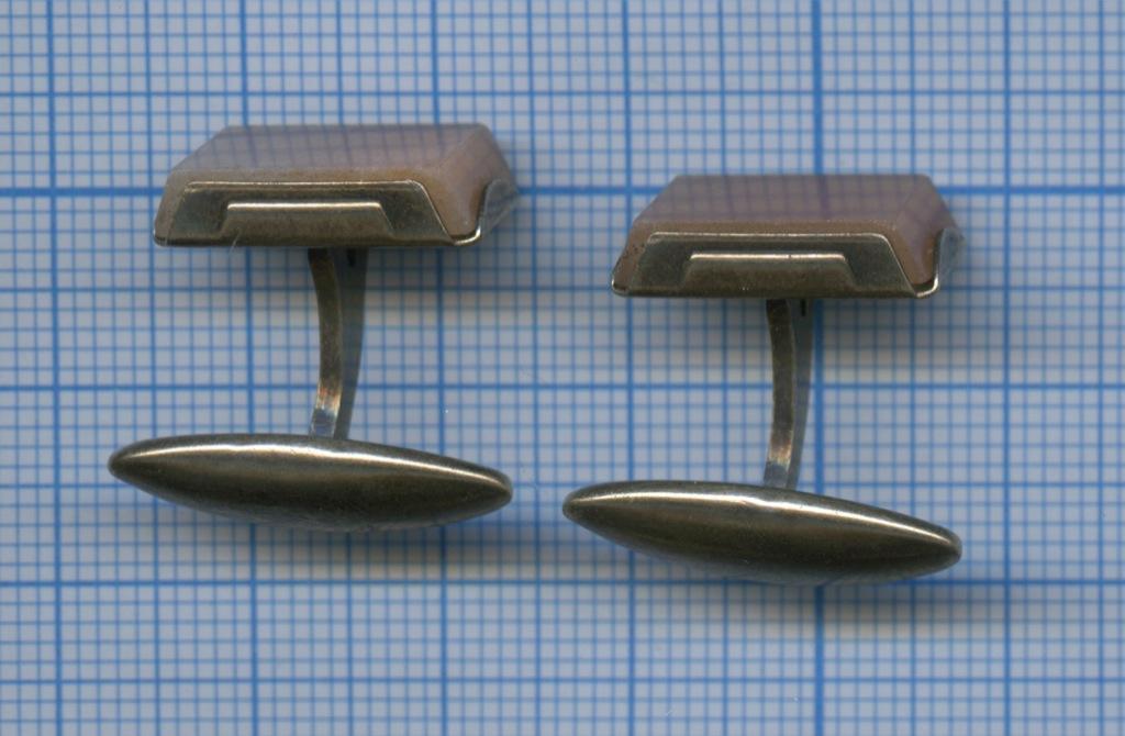 Запонки (натуральный камень, 875 проба серебра) (СССР)