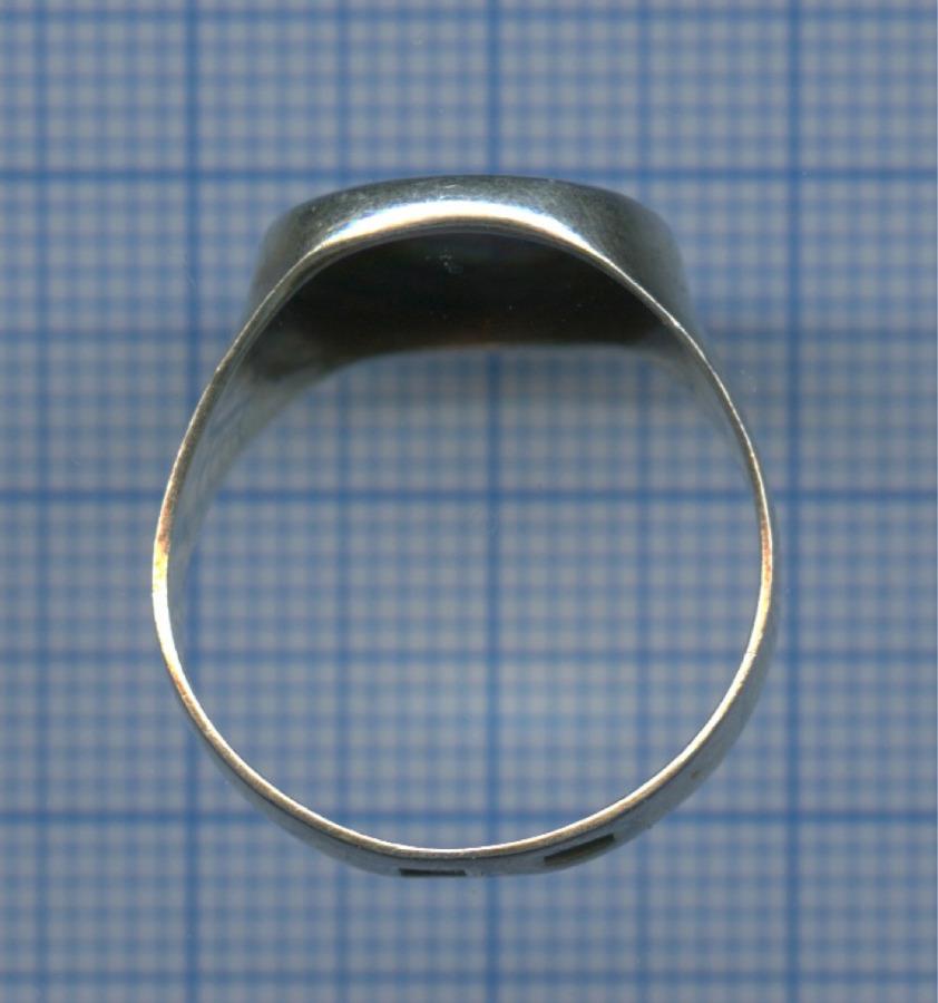 Кольцо «Северная чернь» (серебро 875 пробы, 18 размер, клеймо «ЗСЧ»)