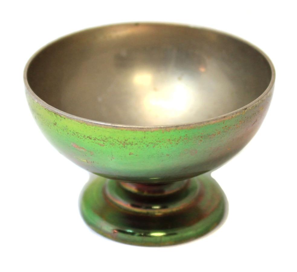 Солонка (мельхиор, высота 4 см, диаметр 6 см)