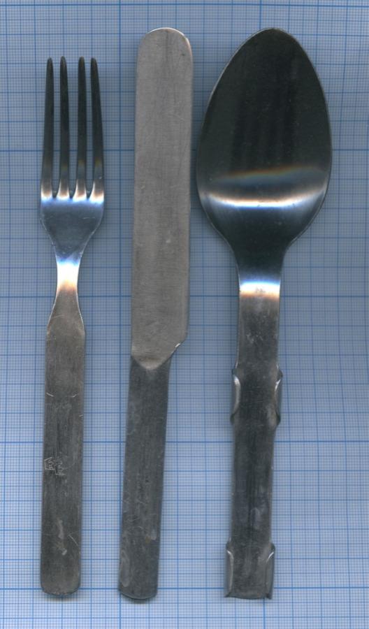Набор походный: ложка, вилка, нож (Швеция)
