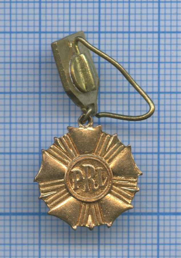 Знак фрачный «Знамя труда», 1-го класса (тяжелый) (Польша)