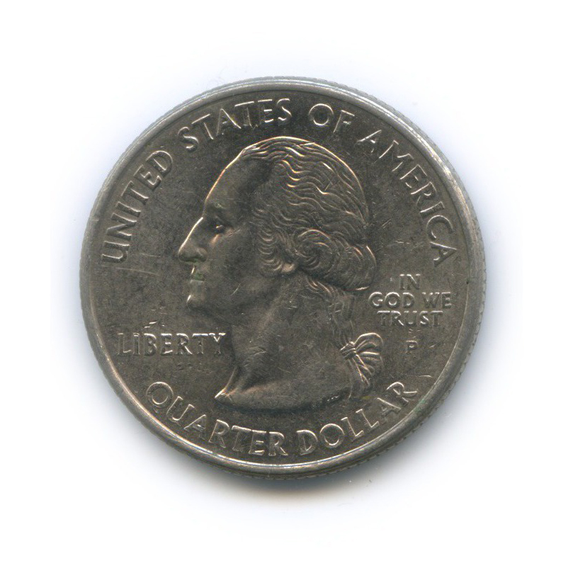 25 центов (квотер) — Квотер штата Нью-Гэмпшир 2000 года P (США)