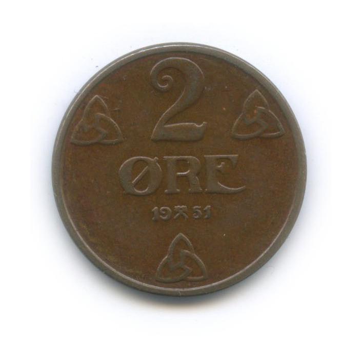 2 эре 1951 года (Норвегия)