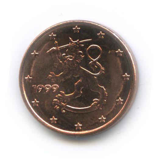 1 цент 1999 года (Финляндия)