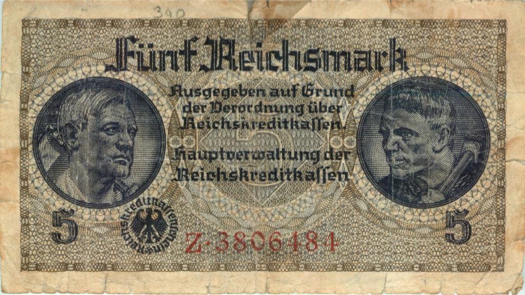 5 рейхсмарок (1939-1944 гг.) (Германия (Третий рейх))