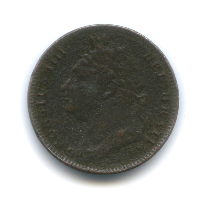 1 фартинг - Георг IV 1821 года (Великобритания)