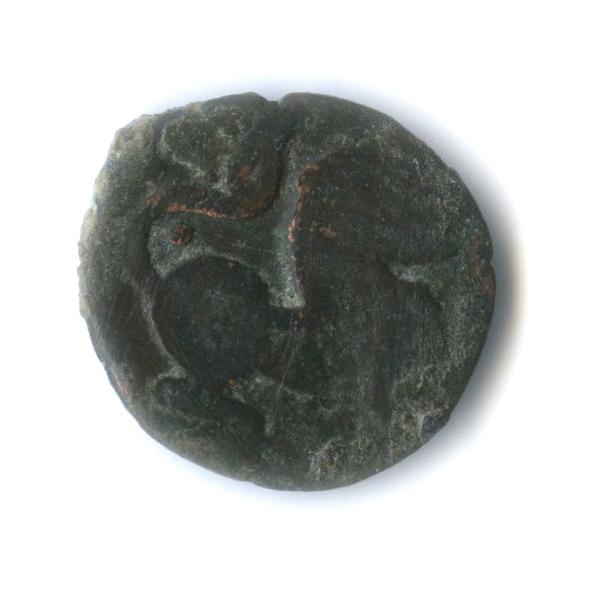 Индо-Скифия, Бактрия, I век, лев/слон