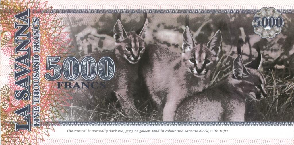 5000 франков (Саванна) 2015 года