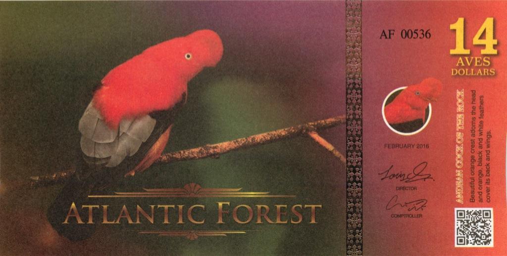 14 долларов (Атлантический лес) 2016 года