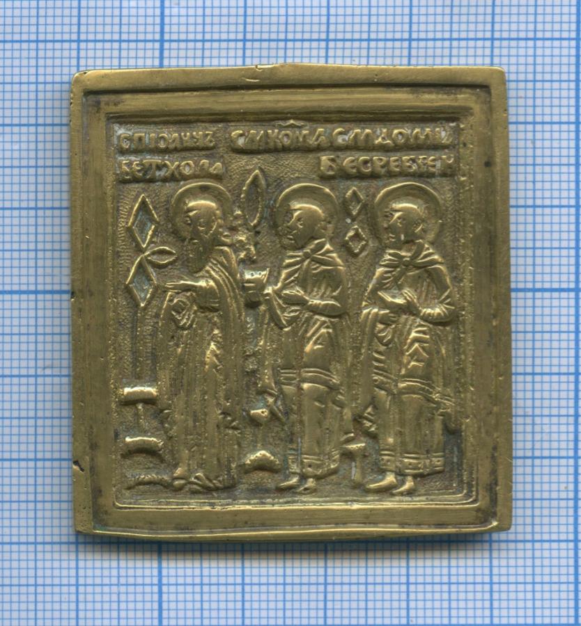 Иконка «Иоанн Ветхопещерник, Косма иДамиан, избранные святые»