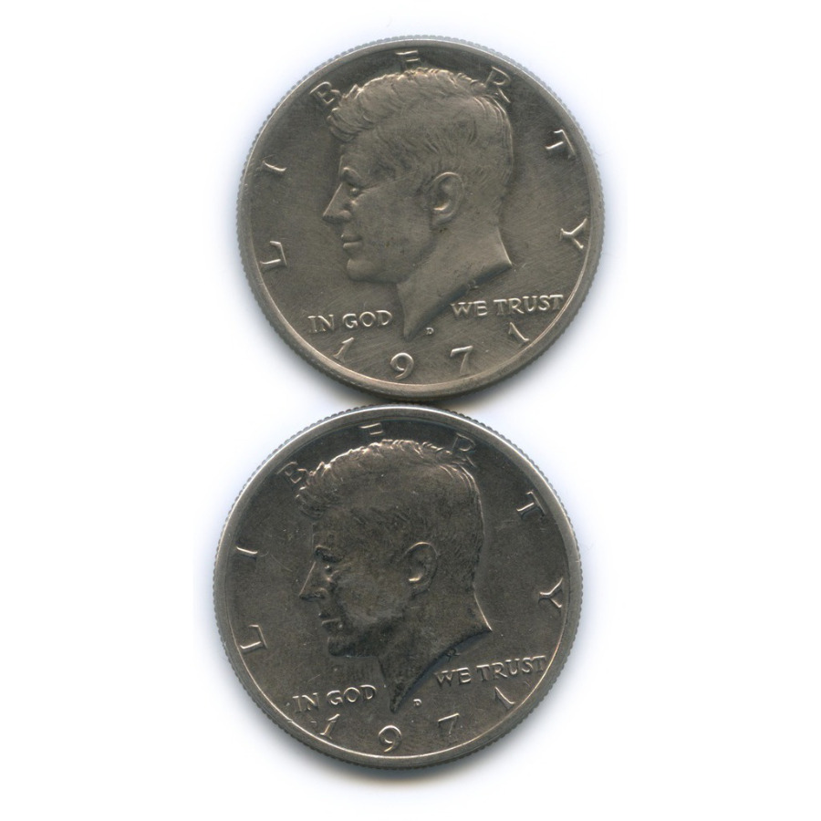 Набор монет 50 центов 1971 года D (США)