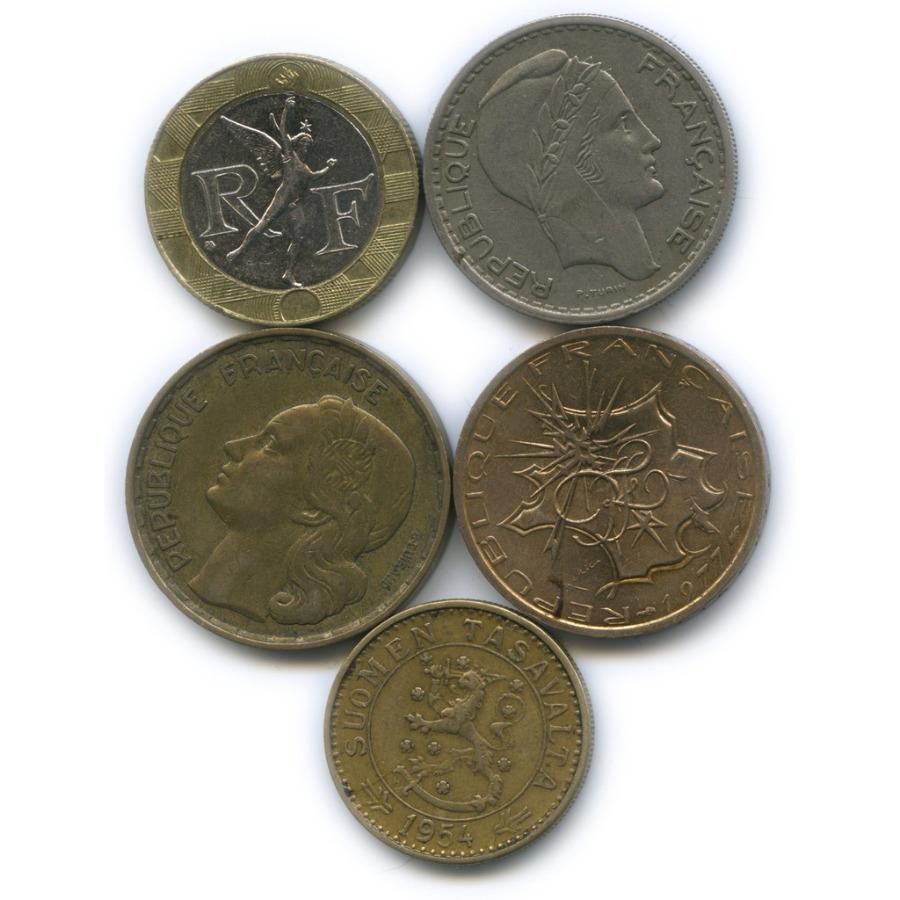 Набор монет (Франция, Финляндия)