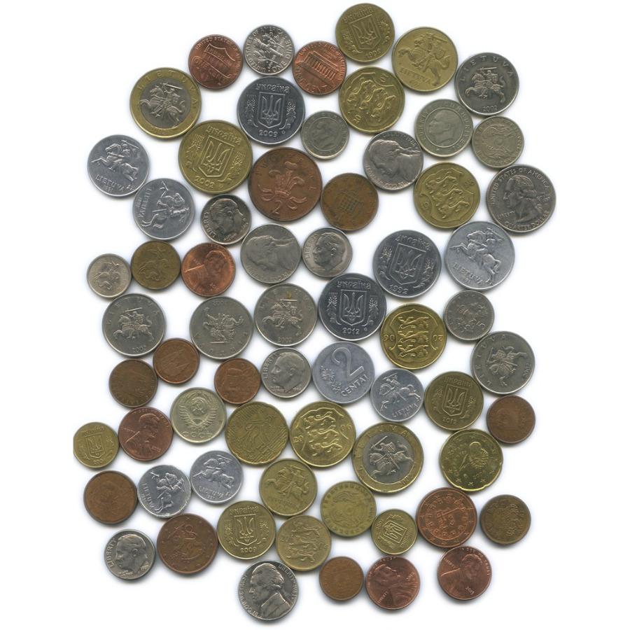 Набор монет (66 шт., разные страны)
