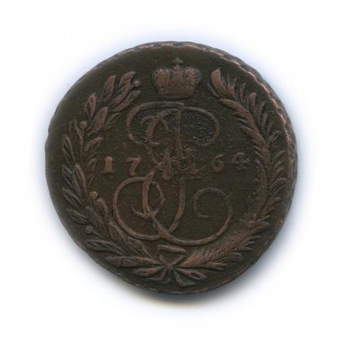 2 копейки (перечекан из4-х копеек) 1764 года ММ (Российская Империя)