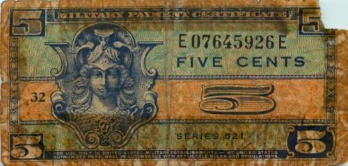 5 центов (военный сертификат) (США)