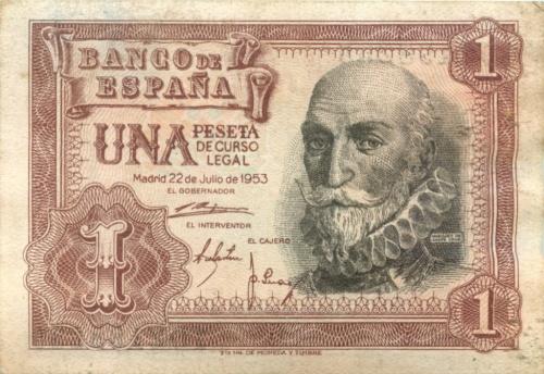 1 песета 1953 года (Испания)