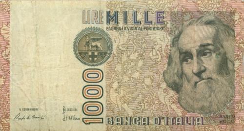 1000 лир 1982 года (Италия)