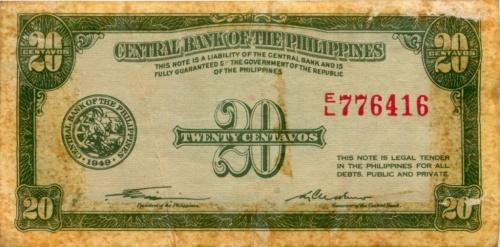 20 сентаво 1949 года (Филиппины)