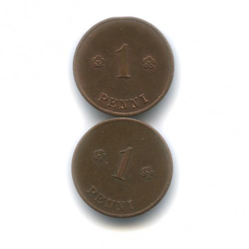 Набор монет 1 пенни 1920, 1921 (Финляндия)