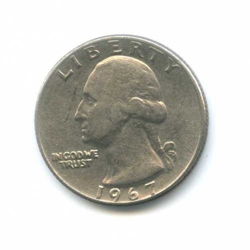 25 центов (квотер) 1967 года (США)