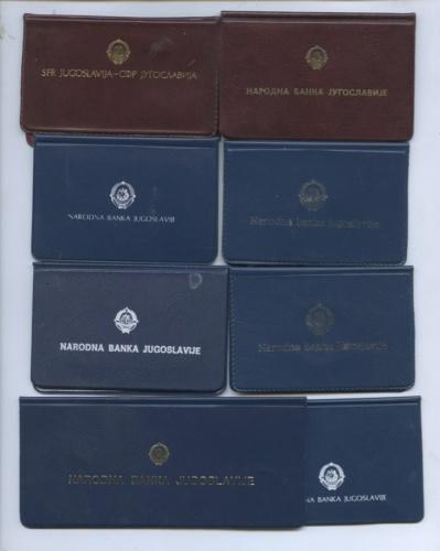Упаковки для монет «Югославия» (оригинальные) (Югославия)
